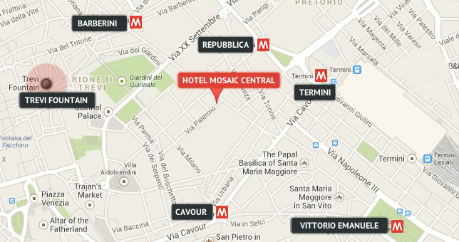 Hotel Mosaic Central Rome Official Site Budget: Map Of Hotels In Rome City Centre At Infoasik.co